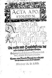Acta Apostolorum: das Buch der Apostelgeschichte