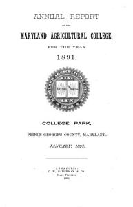 Annual Report   Maryland Agricultural Experiment Station PDF