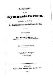 Sokrates: Zeitschrift für das Gymnasialwesen, Band 15