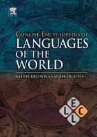 Concise Encyclopedia of Languages of the World PDF
