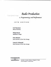 Modern Radio Production