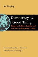 Democracy Is a Good Thing PDF