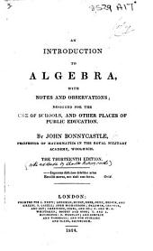 An Introduction to Algebra ... The second edition
