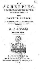 Schepping, geestelyk muziekstuk, in muziek gebracht door Joseph Haydn