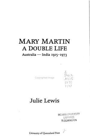 Mary Martin  a Double Life PDF