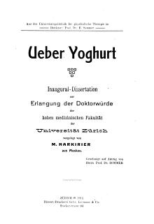 Ueber Yoghurt PDF