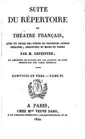 Suite du répertoire du Théâtre Français: avec un choix des pièces de plusieurs autres théâtres, Volume23
