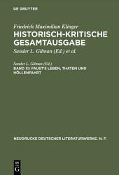 Faust's Leben, Thaten und Höllenfahrt