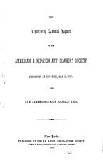 The Thirteenth Annual Report of the American and Foreign Anti Slavery Society PDF
