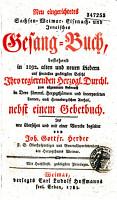 Neu eingerichtetes Sachsen    Gesang Buch   bestehend in 1192 alten u  neuen Lieder    von Joh  Gottfr  Herder PDF