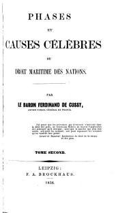 Phases et causes célèbres du droit maritime des nations