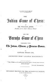 The Indian Game of Chess