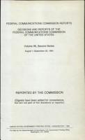Federal Communications Commission Reports PDF