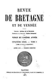 Revue de Bretagne, de Vendée & d'Anjou: Volume21