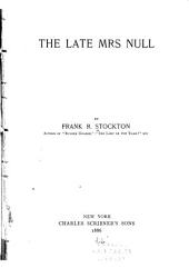 The Late Mrs Null