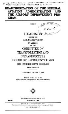 Reauthorization of the Federal Aviation Administration and the Airport Improvement Program PDF