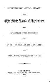 Annual Report of the Ohio State Board of Agriculture: Volume 17, Part 1863