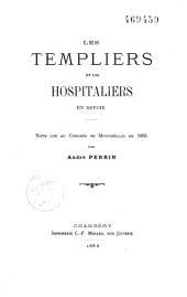 Les Templiers et les hospitaliers en Savoie