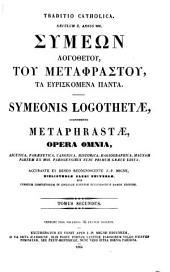 Patrologiae cursus completus: omnium SS. patrum, doctorum scriptorumque ecclesiasticorum, sive latinorum, sive graecorum. [Series graeca], Τόμος 115