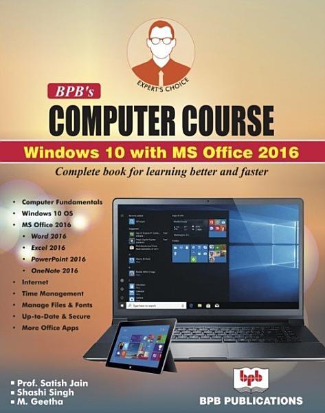 BPB COMPUTER COURSE WIN 10 OFFICE 2016 PDF