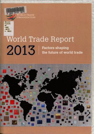 World Trade Report 2013 PDF