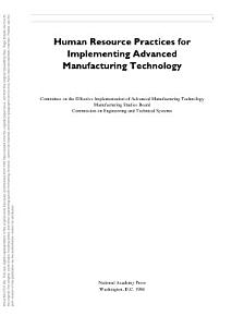 Human Resource Practices for Implementing Advanced Manufacturing Technology PDF