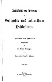 Zeitschrift des Vereins für Geschichte und Alterthum Schlesiens: Band 38