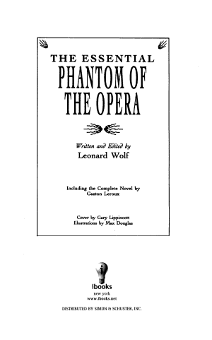 The Essential Phantom of The Opera