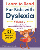 Learn to Read for Kids with Dyslexia  Volume 2