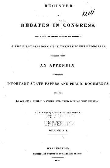 Register of Debates in Congress PDF