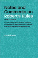 Notes and Comments on Robert s Rules