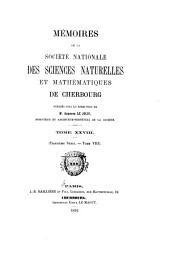 Mémoires de la Société nationale des sciences naturelles et mathématiques de Cherbourg: Volume28;Volume1892