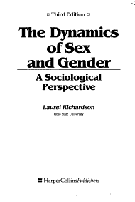 The Dynamics of Sex and Gender PDF