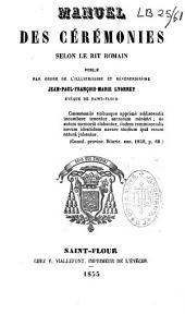 Manuel des cérémonies selon le rit romain