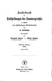 Jahrbuch für Entscheidungen des Kammergerichts in Sachen der nichtstreitigen Gerichtsbarkeit und in Strafsachen: 1882, Band 2