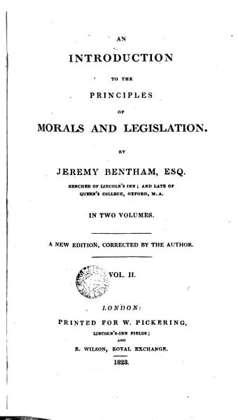 An Introduction to the Principles of Morals and Legislation PDF
