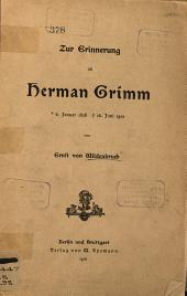 Zur erinnerung an Herman Grimm ...