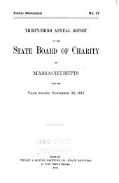 Annual Report of the State Board of Charity of Massachusetts