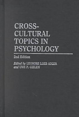 Cross cultural Topics in Psychology PDF