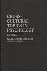 Cross cultural Topics in Psychology Book