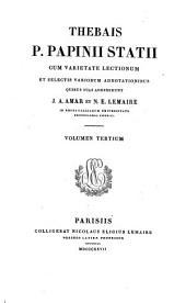 Libri quinque silvarum: Volume 3