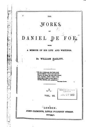 The Works of Daniel De Foe PDF