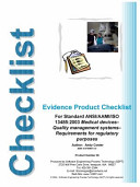 Evidence Product Checklist
