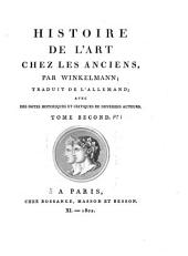 Histoire de l'art chez les anciens: Volumes1à2
