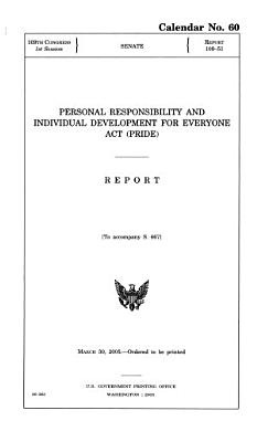 Personal Responsibility and Individual Development for Everyone Act  PRIDE