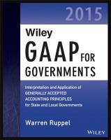 Wiley GAAP for Governments 2015 PDF