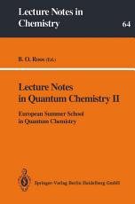 Lecture Notes in Quantum Chemistry II PDF