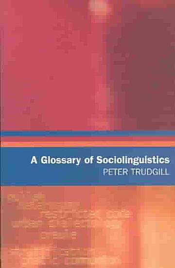 A Glossary of Sociolinguistics PDF