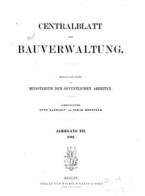 Centralblatt der Bauverwaltung PDF