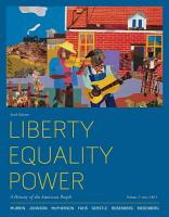 Liberty  Equality  Power  A History of the American People  Volume 2  Since 1863 PDF
